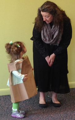 photo of Paper Bag Princess and storyteller Karen Pillsworth, Children's Museum at Saratoga