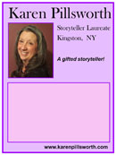 poster of storyteller Karen Pillsworth